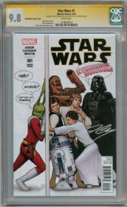 Star Wars #1 Humour Variant (2015) CGC 9.8 Signature Series Signed John Cassaday Marvel
